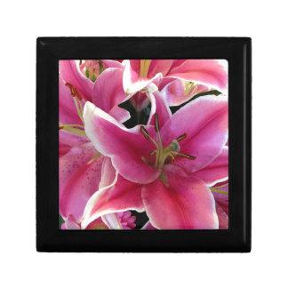 Pink flower magic gift box