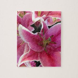 Pink flower magic jigsaw puzzle