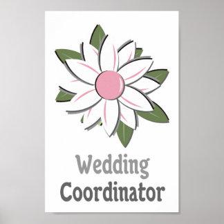 Pink Flower Male Wedding Coordinator Print