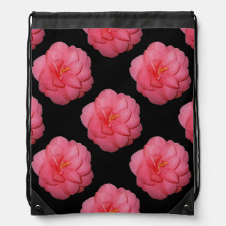 Pink Flower Mandala Pop Art Drawstring Backpack