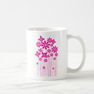 Pink Flower Meadow Mugs