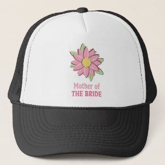 Pink Flower Mother of the Bride Trucker Hat