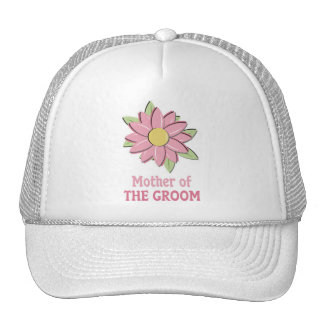 Pink Flower Mother of the Groom  Cap