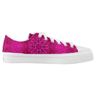 Pink Flower Pattern Custom Low Top Shoes