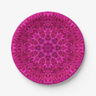 Pink Flower Pattern  Custom Paper Plates