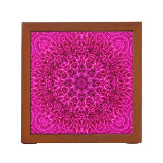 Pink Flower Pattern   Desk Organizer