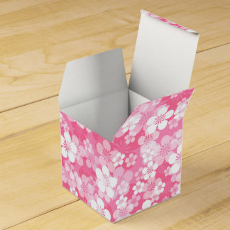 Pink Flower Pattern Favor Box Wedding Favour Box