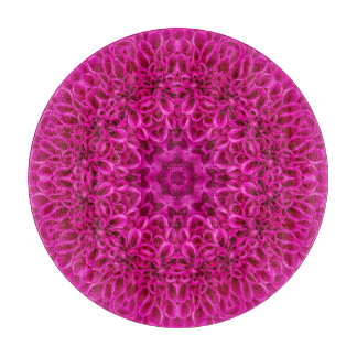 Pink Flower Pattern Glass Cutting Boards, 5 styles Cutting Board