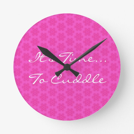 Pink Flower Pattern It's Time To Cuddle H101