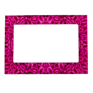 Pink Flower Pattern Magnetic Picture Frames