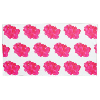 Pink Flower Pattern Pillowcase