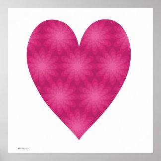 Pink Flower Pattern Poster