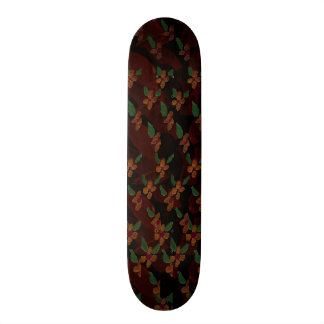 Pink Flower Pattern Skateboard Decks