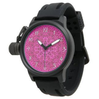 Pink Flower Pattern   Vintage Mens Watch