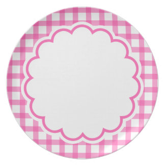 Pink Flower Plate