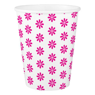 PINK FLOWER PRINT. CUSTOMIZABLE BACKGROUND PAPER CUP