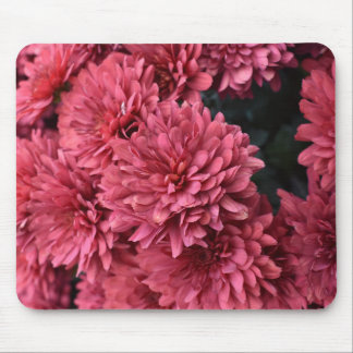 Pink flower print mousepad