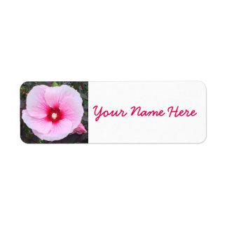 Pink Flower Return Address Labels
