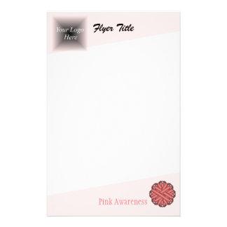 Pink Flower Ribbon 14 Cm X 21.5 Cm Flyer