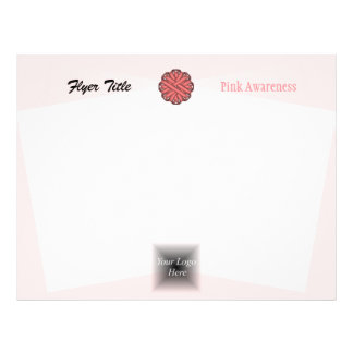 Pink Flower Ribbon 21.5 Cm X 28 Cm Flyer
