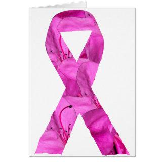 Pink Flower Ribbon Greeting Card
