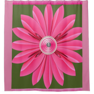pink flower showercurtain purple shower curtain