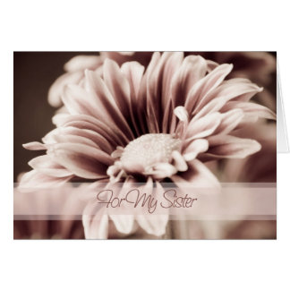 Pink Flower Sister Thank You Maid of Honor Card