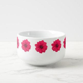 pink flower soup mug