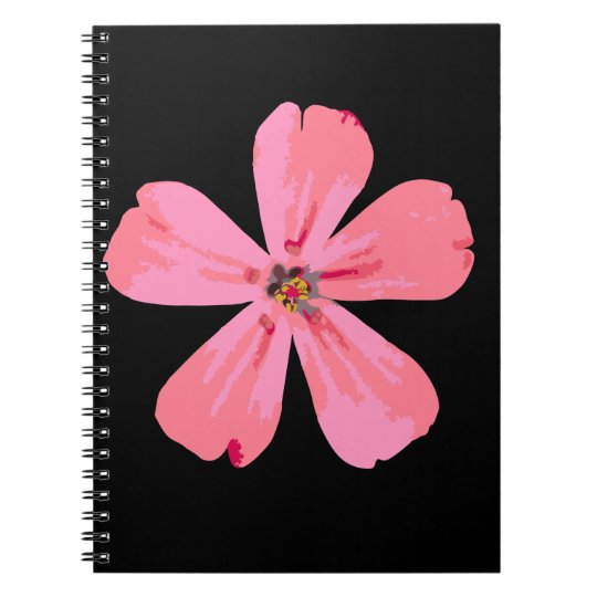 Pink Flower spiral note book