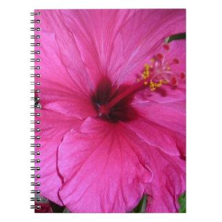 Pink Flower Spiral Notebooks