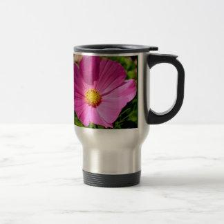 Pink Flower Stainless Steel Travel Mug