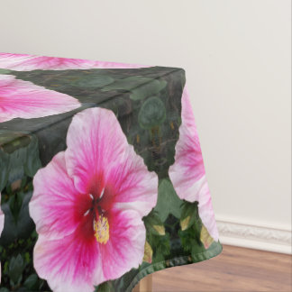 pink flower tablecloth