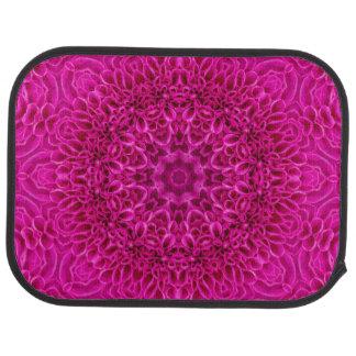 Pink Flower Vintage Kaleidoscope  Car Floor  rear Car Mat