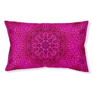 Pink Flower  Vintage Kaleidoscope Dog Bed