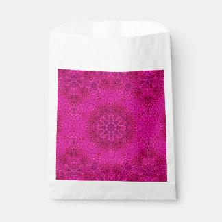 Pink Flower Vintage Kaleidoscope  Favor Bags