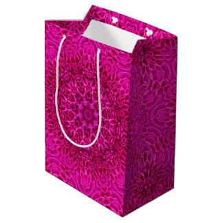 Pink Flower Vintage Kaleidoscope Medium Gift Bag