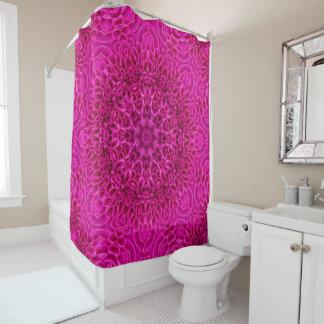 Pink Flower Vintage Kaleidoscope   Shower Curtain