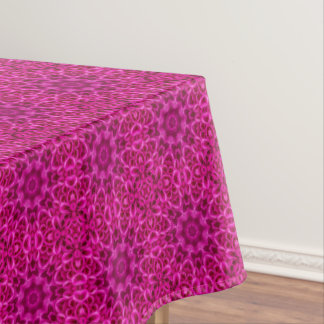 Pink Flower Vintage Kaleidoscope   Tablecloth