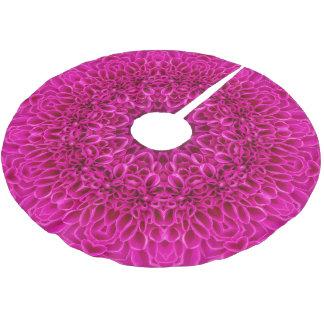 Pink Flower Vintage Kaleidoscope  Tree Skirt