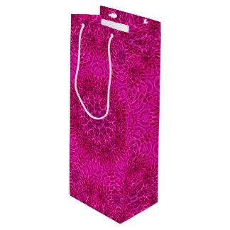 Pink Flower Vintage Kaleidoscope  Wine Bags
