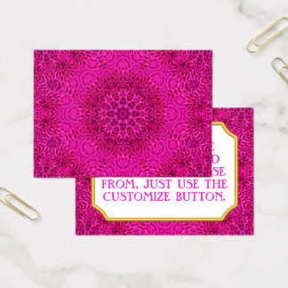 Pink Flower Vintage Pattern  Business Cards
