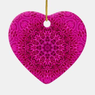 Pink Flower  Vintage Pattern  Ornaments