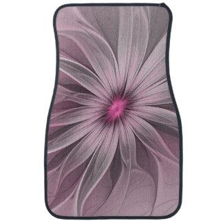 Pink Flower Waiting For A Bee Abstract Fractal Art Car Mat