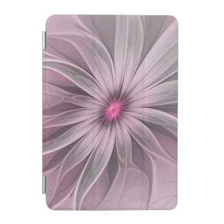 Pink Flower Waiting For A Bee Abstract Fractal Art iPad Mini Cover