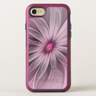 Pink Flower Waiting For A Bee Abstract Fractal Art OtterBox Symmetry iPhone 8/7 Case