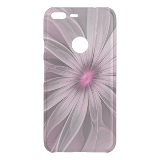 Pink Flower Waiting For A Bee Abstract Fractal Art Uncommon Google Pixel XL Case