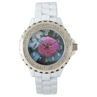 Pink flower watch