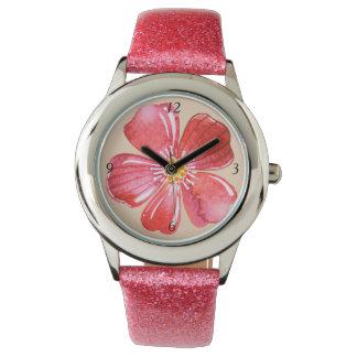 Pink Flower Watch