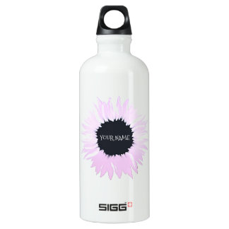 Pink flower water bottle