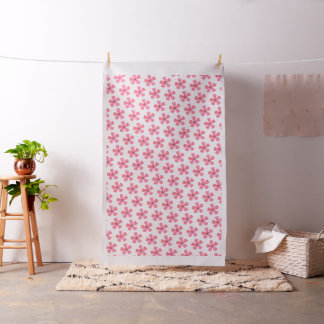 Pink flower watercolor pattern (fabric) fabric